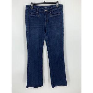 Loft 8 curvy bootcut distressed jeans